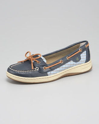 Sperry Angelfish Plaid-Detail Boat Shoe