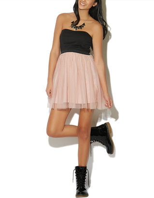 Wet Seal Party Dress With Tulle Skirt