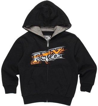Fox Sharpstreak Zip Front Hoodie (Little Kids) (Black) - Apparel