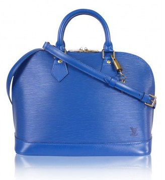 Louis Vuitton excellent (EX Blue Epi Alma Handbag With Shoulder Strap