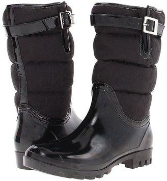 Calvin Klein Ivah (Black Rubber Jacquard) - Footwear