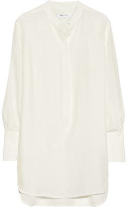 Equipment Ian washed-silk tunic shirt