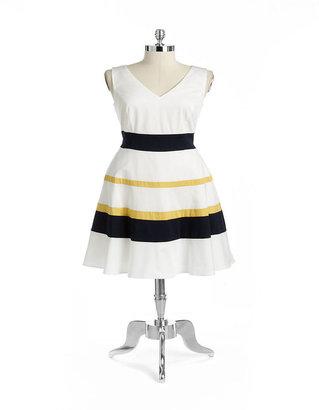 Anne Klein Banded Colorblock Dress