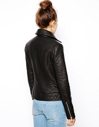 Asos Textured Biker Jacket