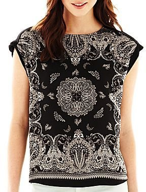 Mng by Mango® High-Low Paisley Print Tee