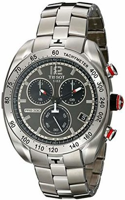 Tissot Men's 'PRS 330' Anthracite Dial Stainless Steel Chronograph Watch T076.417.11.067.00