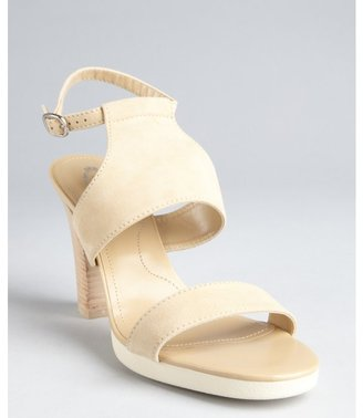 Tod's beige suede 'Sophie Bikini' ankle strap heeled sandals