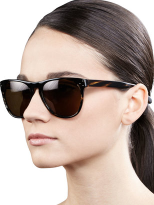 Oliver Peoples Daddy B 58 Rounded Sunglasses, Cocobolo