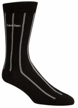 Calvin Klein Chalk Striped Crew Socks