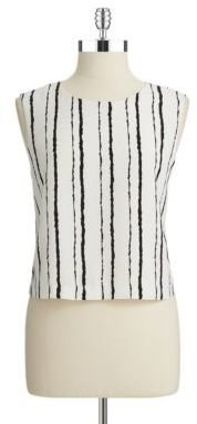 Vince Camuto Striped Crop Top
