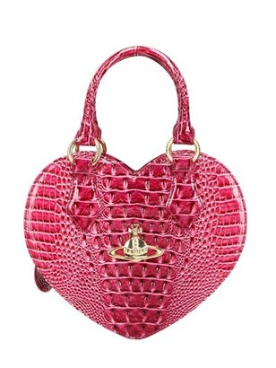 Vivienne Westwood Chancery Heart Printed Faux Leather Bag