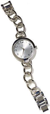 New York & Co. Metallic Chain-Link Watch