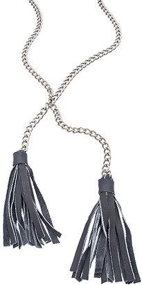 Jessica Elliot Long Leather Lariat Necklace