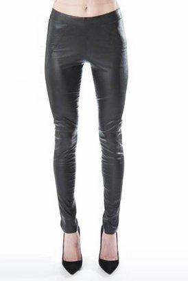 David Lerner Vegan Leather Leggings in Black