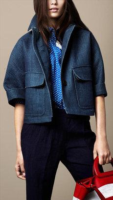 Burberry Sculptural Linen Jacket