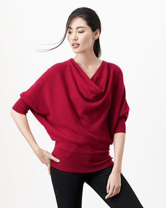 Neiman Marcus Oversized Cowl-Neck Cashmere Sweater