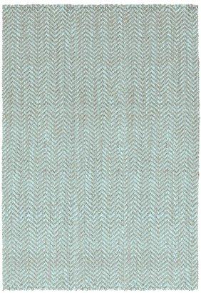DwellStudio Herringbone Jute Slate Blue Rug