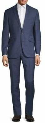 Ted Baker No Ordinary Joe 2-Piece Wool Tailored Windowpane Suit