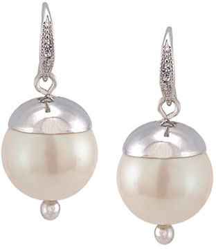 Carolee Silver-Tone Pearl Drop Earrings
