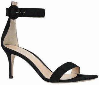 Gianvito Rossi Portofino 70 Suede Heeled Sandals