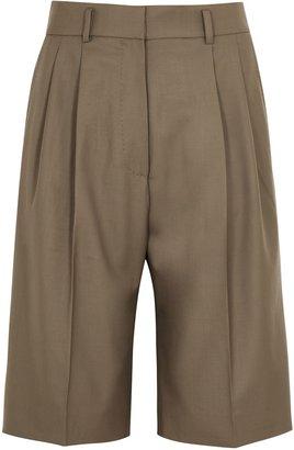 Petar Petrov Hew Brown Wool Shorts