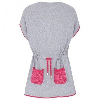 Fendi Gray & Pink Cotton Dress