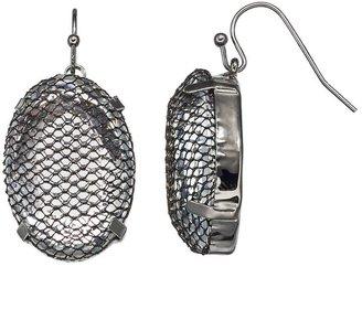 Vera Wang Simply vera mesh bead drop earrings