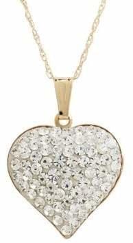 Fine Jewellery 14K Yellow Gold Crystal Heart Pendant