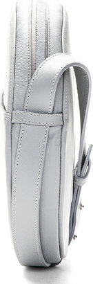 Maison Martin Margiela Grey Buffed Leather Cross-Body Circle Bag