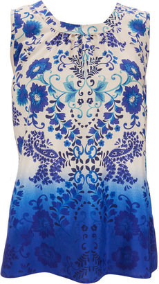 Wallis Blue Paisley Print Top