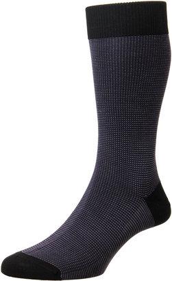 Pantherella Mid-Calf Birdseye Ankle Socks
