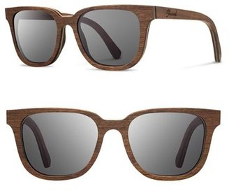 Men's Shwood 'Prescott' 53Mm Wood Sunglasses - Walnut/ Grey $149 thestylecure.com