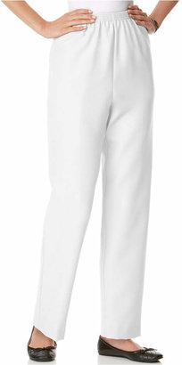 Alfred Dunner Petite Classics Pull-On Straight-Leg Pants