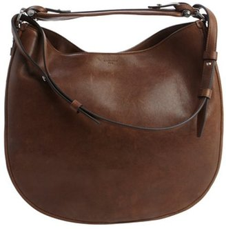 Givenchy brown distressed leather 'Obsedia' medium convertible hobo bag