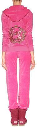 Juicy Couture Velour JC Laurel Pants in Fragrant Rose