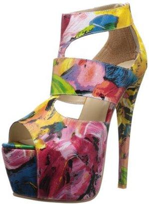 N.Y.L.A. Women's Rexie Leather Platform Sandal