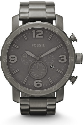 Fossil Nate Chronograph Stainless Steel Watch - Smoke