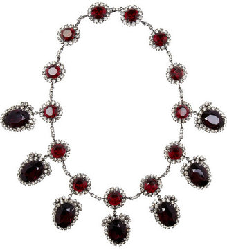 Kenneth Jay Lane Gunmetal-plated crystal necklace