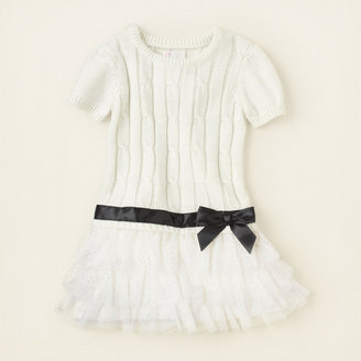 Children's Place Cable-knit tiered sweater dress