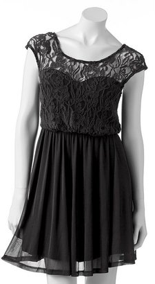 Eyelash lace dress - juniors