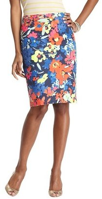 LOFT Floral Variety Pencil Skirt