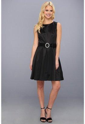 Nine West Satin Dress (Black) - Apparel