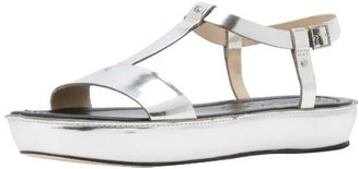 Elizabeth and James Women's E-Cree Slingback Sandal,Silver,10 M US