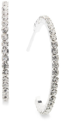 Charter Club Silver-Tone J Hoop Earrings