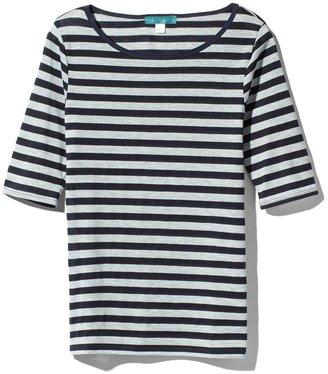 Pim + Larkin Stripe Knit Boatneck Top