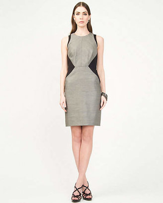 Le Château Linen Blend Colour Block Dress