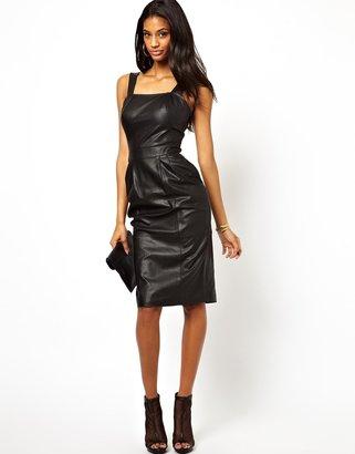 Asos Midi Leather Dress