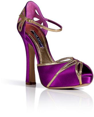 Ralph Lauren Fuchsia Silk Satin Sandals
