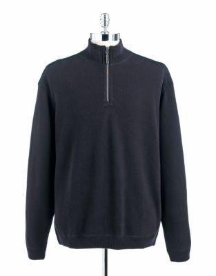 Tommy Bahama Quarter-Zip Cotton Sweater