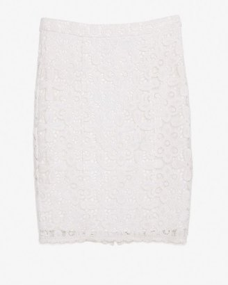 Intermix Exclusive For Floral Lace Pencil Skirt